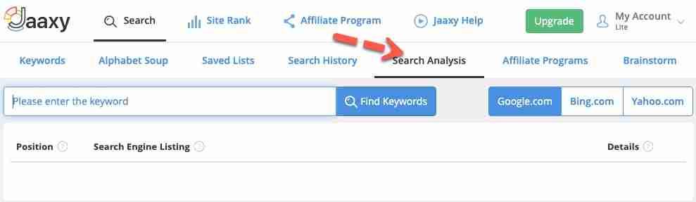 SearchAnalysis